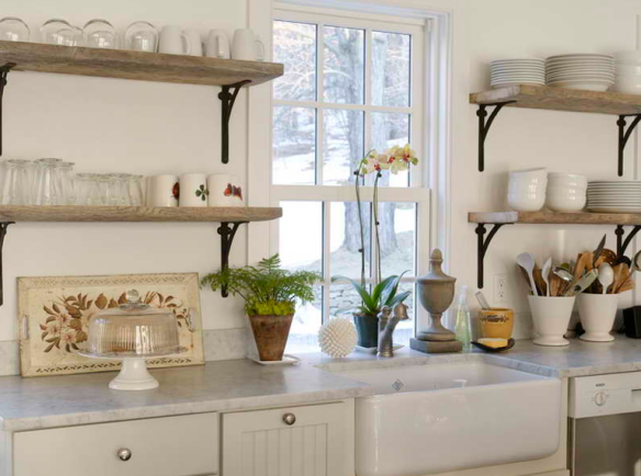 Kitchen Shelves Instead Of Cabinets